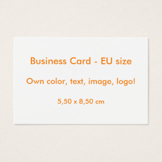 Business Card EU-size uni White ~ Own Color