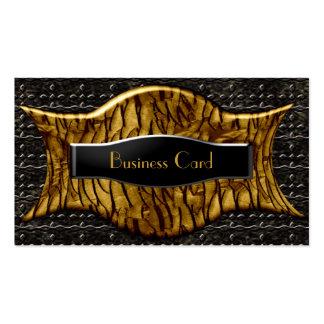 Business Card Exotic African Black Brown Metal