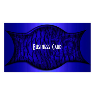 Business Card Exotic African Rich Blue