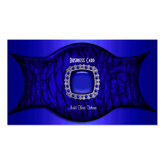 Business Card Exotic African Rich Blue Jewel