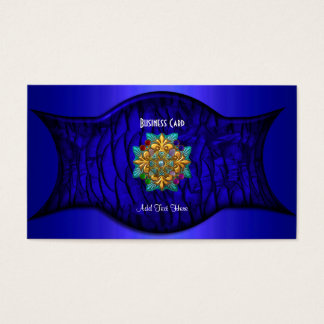 Business Card Exotic African Rich Blue Jewel 2