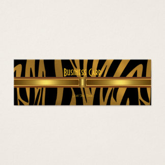 Business Card Exotic African Zebra Gold