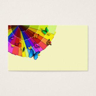 """Business card """"Fan of butterflies """""""