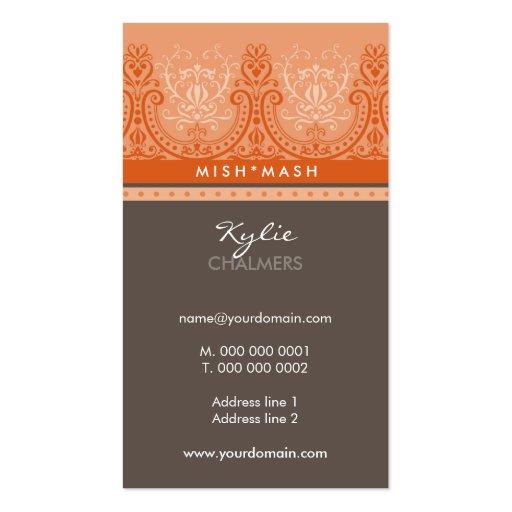 Business card feminine detailed zazzle for Feminine business cards