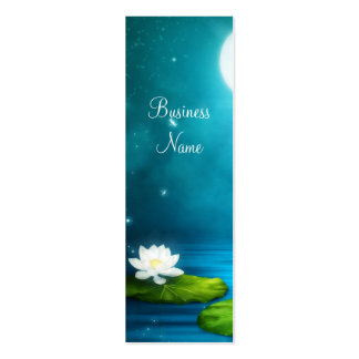 Business Card Fireflies White Flower Skinny Business Cards