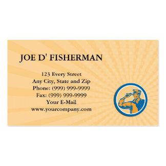 Business card Fisherman Sea Captain Binoculars Cir