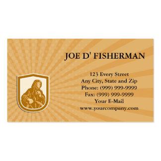 Business card Fisherman Sea Captain Binoculars Ret Business Cards