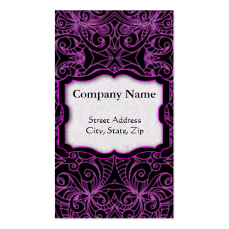 Business Card Floral abstract background