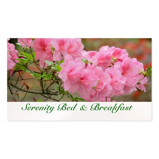 BUSINESS CARD, FLORAL, PINK AZALEA, PHOTOG. Double-Sided STANDARD BUSINESS CARDS (Pack OF 100)