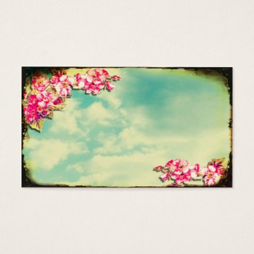 Professional Business Business Card Flowers in the Sky