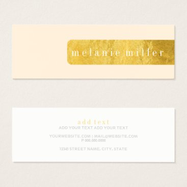 Professional Business Business Card - Foil Label Peach
