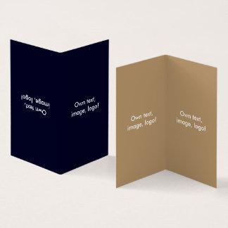 Business Card Folded Book V Dark Blue-Gold