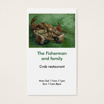 Professional Business Business card for crab, seafood or fish restaurant