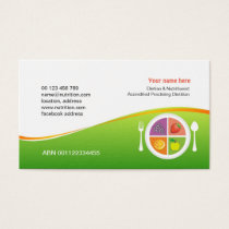 Business card  for Dietitian & Nutritionist