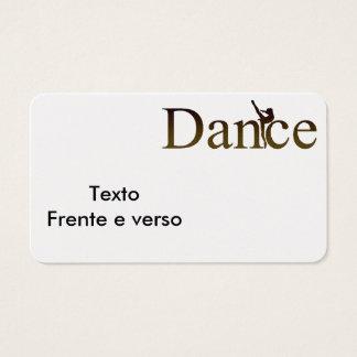 Business card for halls/dance professors