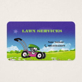 business card for Landscaping and mowing