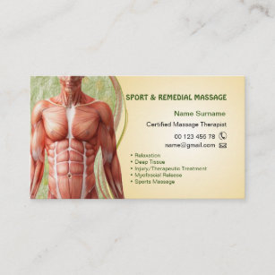 Sports massage therapy business cards templates zazzle business card for massage therapist colourmoves