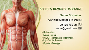 Sports therapy business cards templates zazzle business card for massage therapist colourmoves