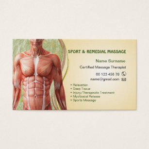 Sports therapist business cards templates zazzle business card for massage therapist colourmoves Gallery