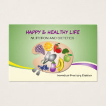 business card for Practiing Dietitian & nutrition