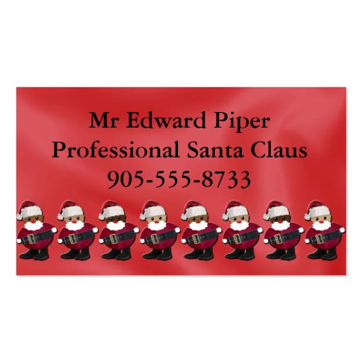 business card for santa claus