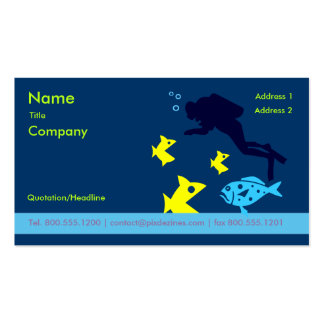 Business Card for Scuba instructor
