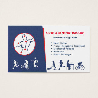 business card for SPORT & REMEDIAL MASSAGE