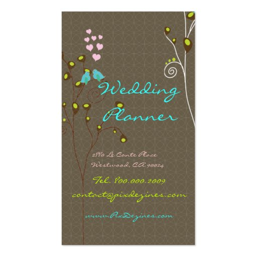 Business Card for Wedding Planners