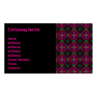 Business Card - Fractal Pattern pink green purple