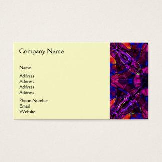Business Card - Fractal Pattern purple