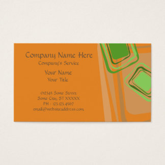 Business Card Free Squares Orange Colors