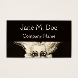Business Card French Vintage Wig Aristocrat