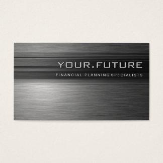 BUSINESS CARD :: futuristic modern metal L12