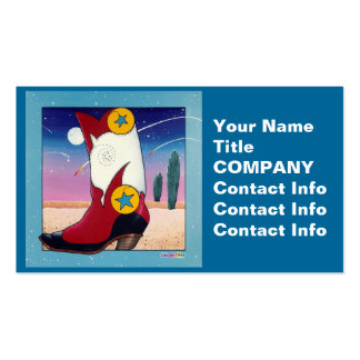 Business Card, Gift Tag - Cowboy Boot, All Dressed