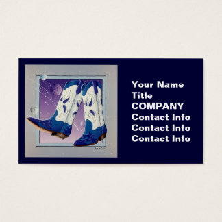 Business Card, Gift Tag - Electric Slide Cowboy Bo