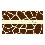 Business Card, giraffe patterns