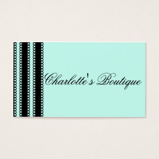 Business Card Glamorous Lace - Blue Garter