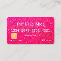 Business Card | Glitter Credit Card Pink