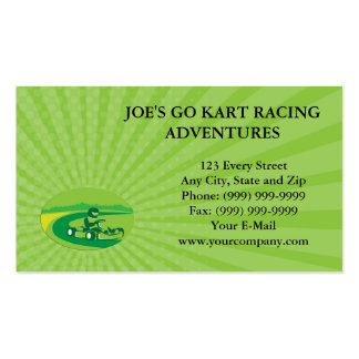 Go kart business cards templates zazzle for Go business cards