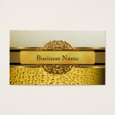 Business Card Gold Amber Beer Ale Black at Zazzle