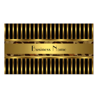 Business Card Gold Animal Trim on Black