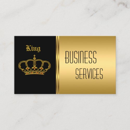 Business Card Gold Black Crown