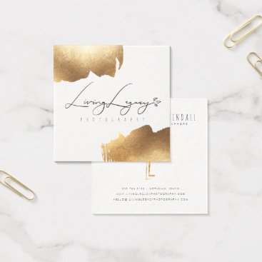 Professional Business BUSINESS CARD | Gold Brush Minimalist