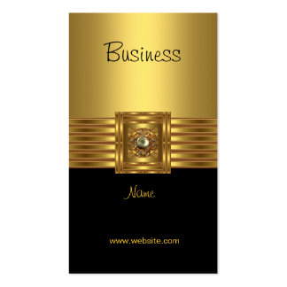 Business Card Gold on Gold Black