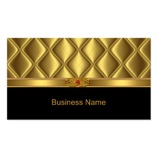 Business Card Gold Tile Trim Red Jewel Business Card