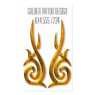 Business Card :: Golden Tattoo Tribal Design