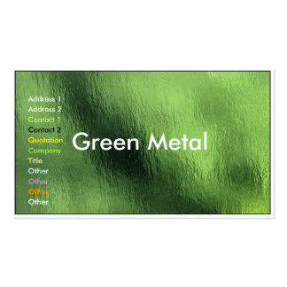 Business Card Green Metal