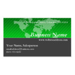Business Card :: Green World Map with Gray D2