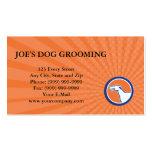 Business card Greyhound Dog Head Side Retro Circle