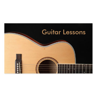 Business Card: Guitar Lessons
